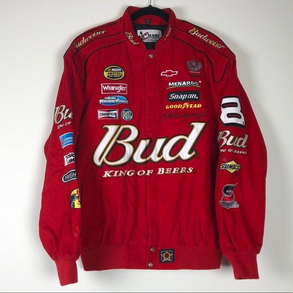 efcf37a0a0598 Dale Earnhardt Budweiser NASCAR Cup Racing Jacket.  M 5b762cb0e9ec8935d164b895